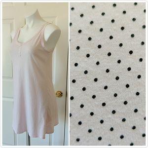 3/$25 Aria polka dot knit sleeveless nightgown S
